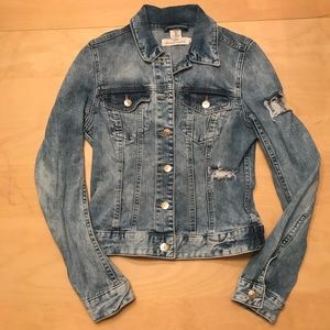 H&M LOGG Distressed Jean Jacket